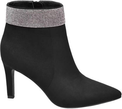 Catwalk Gem Detail Ankle Boot