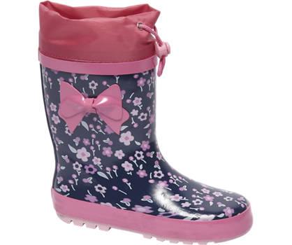 Cortina Roze regenlaars bloemenprint
