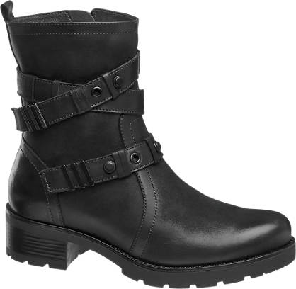 5th Avenue Cross Strap Leather Boot