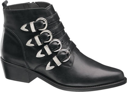5th Avenue Western Buckle Leather Boot