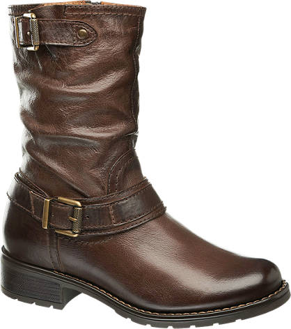 5th Avenue Leather Buckle Boot