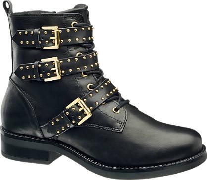 Catwalk Læder Snørestøvle