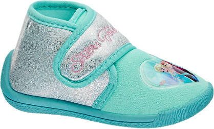 Frozen Light blauwe pantoffel klittenband