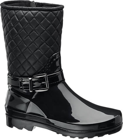 Graceland Ladies Quilted Calf Length Wellington Boots