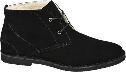 AM shoe Zwarte suède desert boot gevoerd