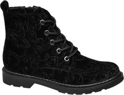 Graceland Junior Girl Patterned Velvet Ankle Boots