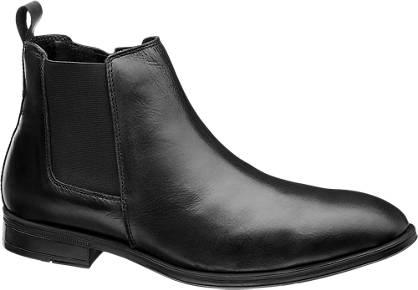 AM shoe Zwarte leren chelsea boot