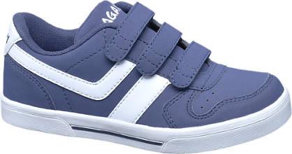 Agaxy Blauwe sneaker klittenband
