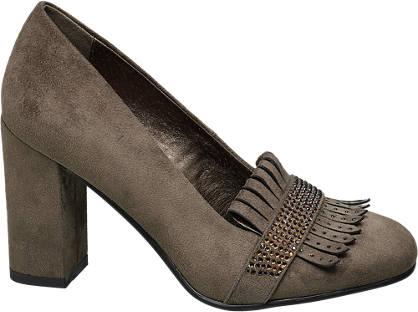 Graceland Fringe & Gem Detail Heel