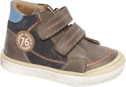 Bobbi-Shoes Bruine leren halfhoge sneaker