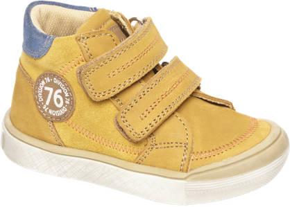 Bobbi-Shoes Gele leren halfhoge sneaker