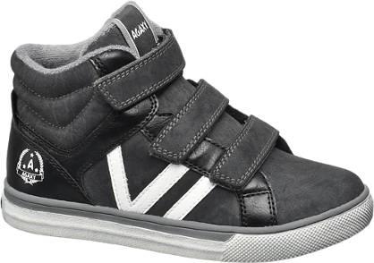Agaxy Zwarte halfhoge sneaker klittenband