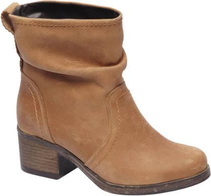 5th Avenue Beige leren boot geplooid