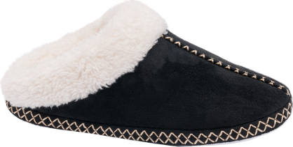 Ladies Stitch Detail Mule Slippers