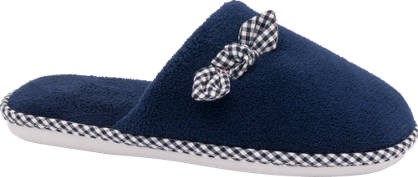 Casa mia Ladies Bow Detail Slippers