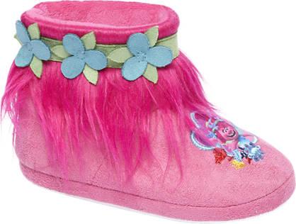 TROLLS Roze pantoffel bloemen