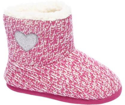 Casa mia Roze halfhoge pantoffels gevoerd