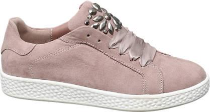 Graceland Roze sneaker zilveren studs