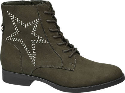 Star Collection Groene veterboot studs