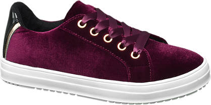 Graceland Junior Girl Velvet Lace-up Casual Shoes