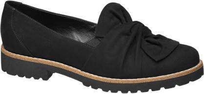 Graceland Zwarte loafer strik