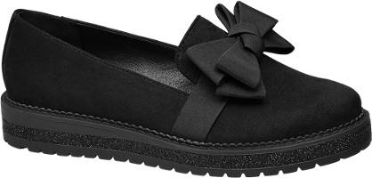 Graceland Zwarte loafer strik