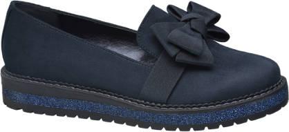 Graceland Donkerblauwe loafer strik