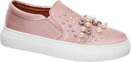 Graceland Roze instappers versierd