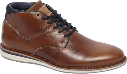 AM shoe Cognac halfhoge leren veterschoen