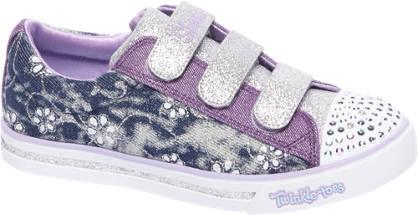 Skechers Paarse sneaker glitters & led