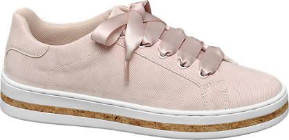 Graceland Roze sneaker satijnen veters
