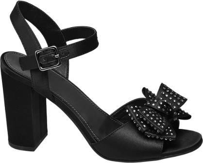 Graceland Zwarte sandalette strik