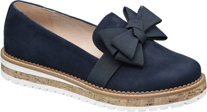 Graceland Donker blauwe loafer strik