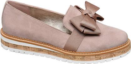 Graceland Roze loafer strik