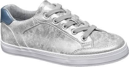 Graceland Zilveren metallic sneaker