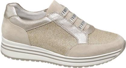 Graceland Beige instap sneaker plateau