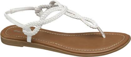 Graceland Witte sandaal geweven
