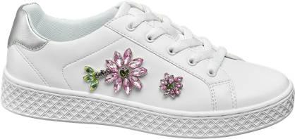 Graceland Witte plateau sneaker steentjes