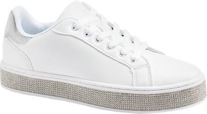 Graceland Witte sneaker steentjes
