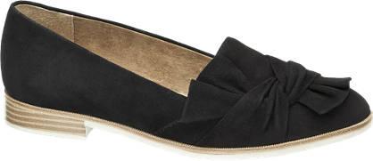 5th Avenue Zwarte suède loafer strik