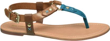 Graceland Bruine sandaal