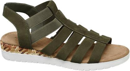 Graceland Groene sandaal elastiek