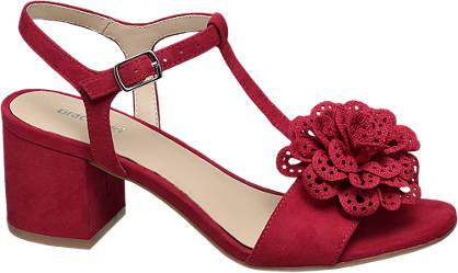 Graceland Rode sandalette bloem
