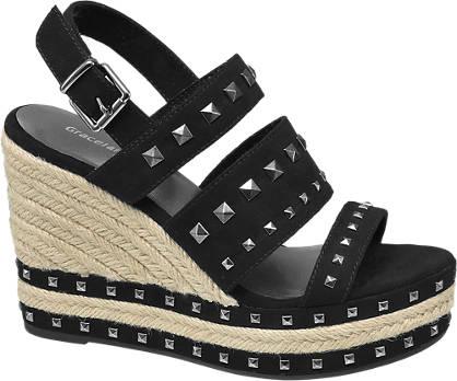 Graceland Zwarte sandalette studs