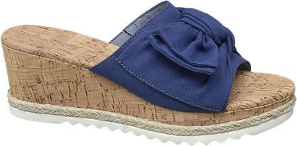 Graceland Blauwe slipper sleehak