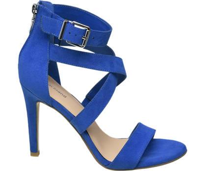 Graceland Blauwe sandalette ritssluiting