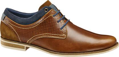 AM shoe Cognac leren geklede veterschoen