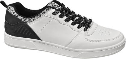 Memphis One Witte sneaker zwarte hak