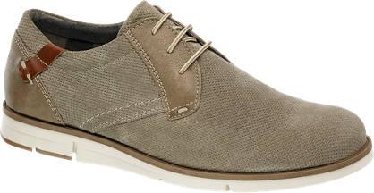 AM shoe Taupe suède veterschoen