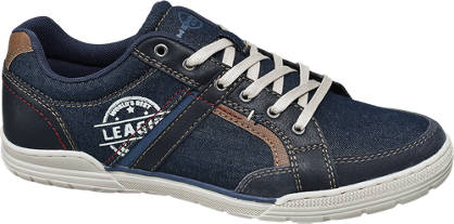 Memphis One Blauwe sneaker denim
